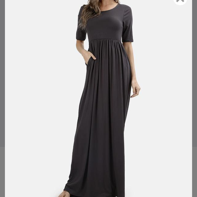268333e3c2a Find more New W o Tags Zenana Outfitters Gray Spandex Modest Maxi ...