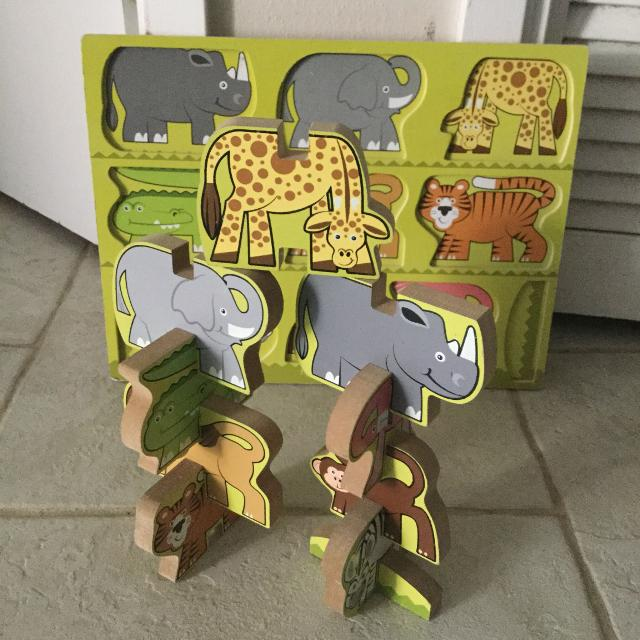 Iso Brittany Melissa Doug Stacking Wooden Chunky Puzzle
