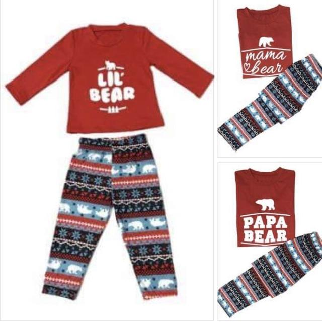 "1f0fffcd020a Best Family ""bear"" Christmas Pajamas - Mama"