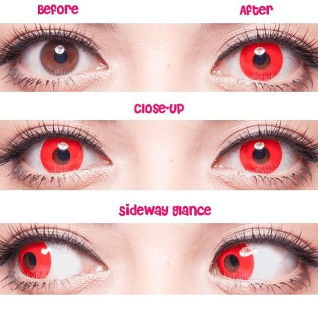 bloody red halloween contact lenses