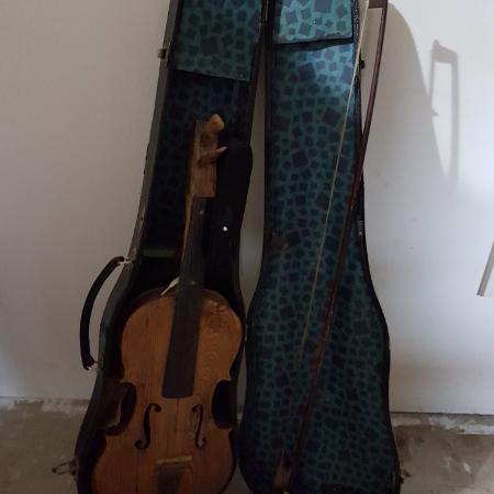 Very old violin and case....not... for sale  Canada