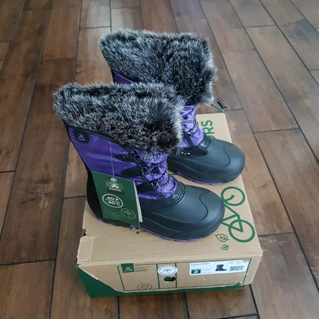 cd4b1364b004 Best New Kamik - Girls Purple Powdery -40c Rated Waterproof Winter Boots -  Size 2 (retail  85) for sale in Airdrie