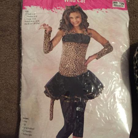 girls size 4 6 cat halloween costume