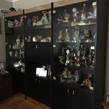 Large glass wall display cabinet for sale  Canada