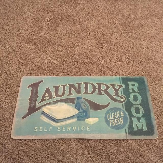 Self Service Rug.Laundry Room Foam Rug