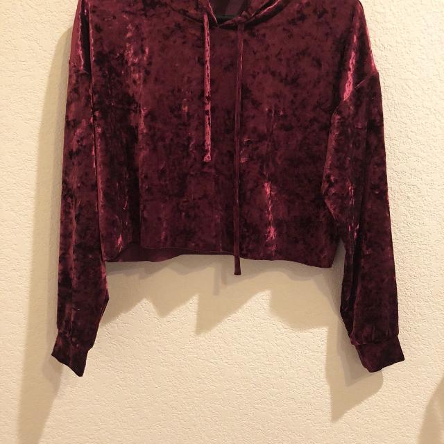 5fdd909e94078 Best Forever 21 Crop Velvet Hoodie for sale in New Braunfels