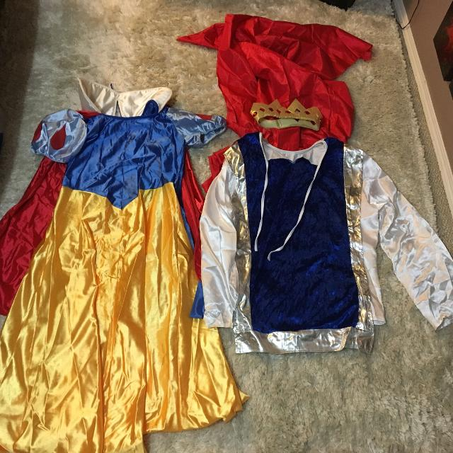 Snow White Prince Halloween Costume cosplay Disney crown night cape fantasy  dress knight couples adult