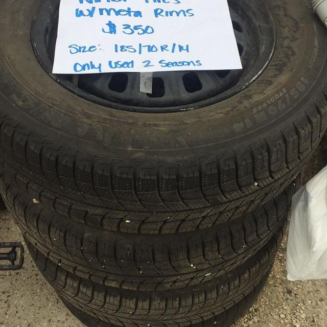 Used Tires Winnipeg >> 4 Winter Tires With Rims
