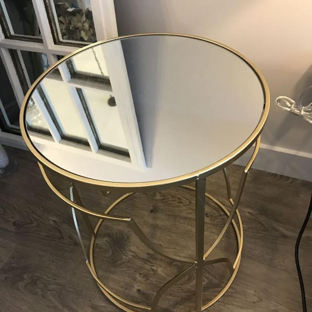 Nwt Homesense Gold Mirrored Side Table