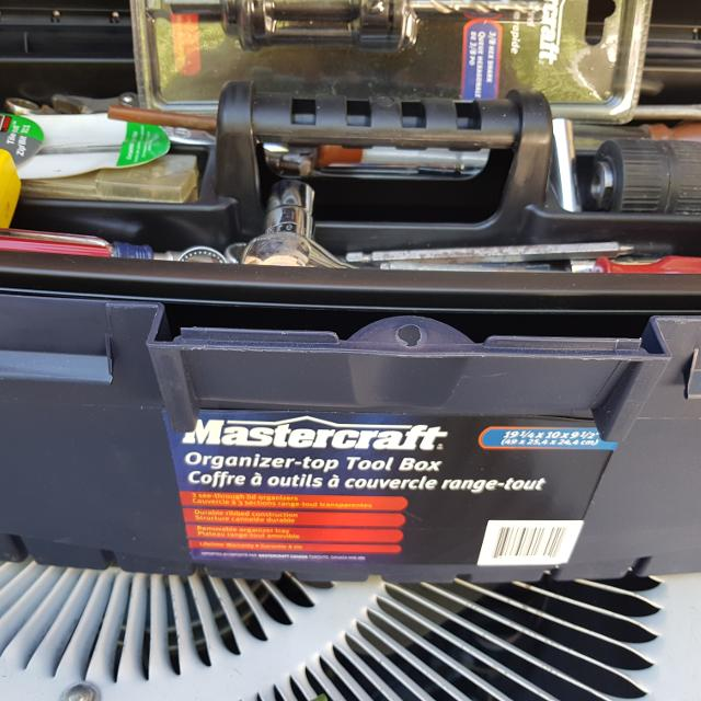 Find More New Mastercraft 19in Organizer Top Toolbox And Contents