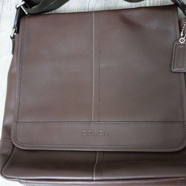 Best Coach Men s Brown Leather Messenger Bag for sale in The Beaches ...