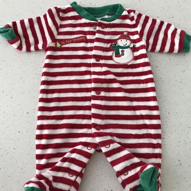 my first christmas pjs