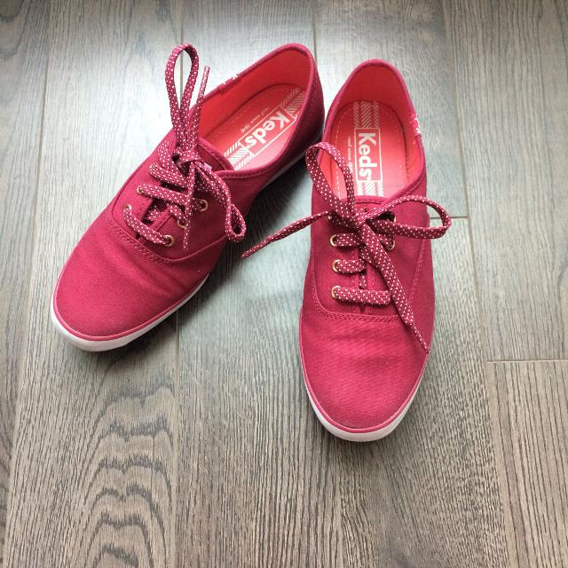 2f819948e9d8 Best Keds Red Champion Sneaker With Polka Dot Lace for sale in Scarborough