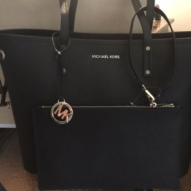6c161ed59779 Find more Michael Kors Black Leather Tote Combo - Brand New for sale ...