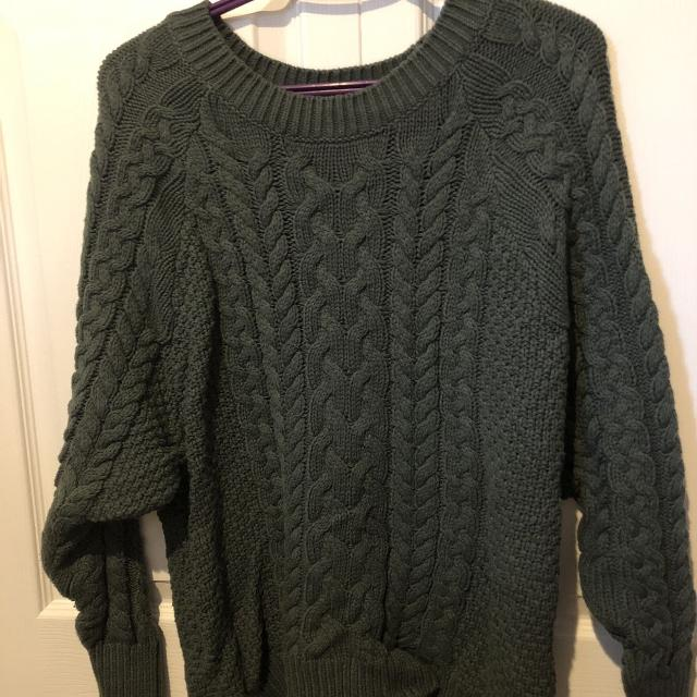 Best Deep Green Cable Knit Sweater For Sale In Victoria British