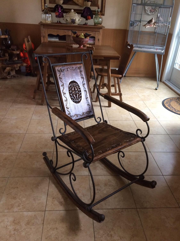 Chaise Fer Forgé Et Bois chaise de bois exotique