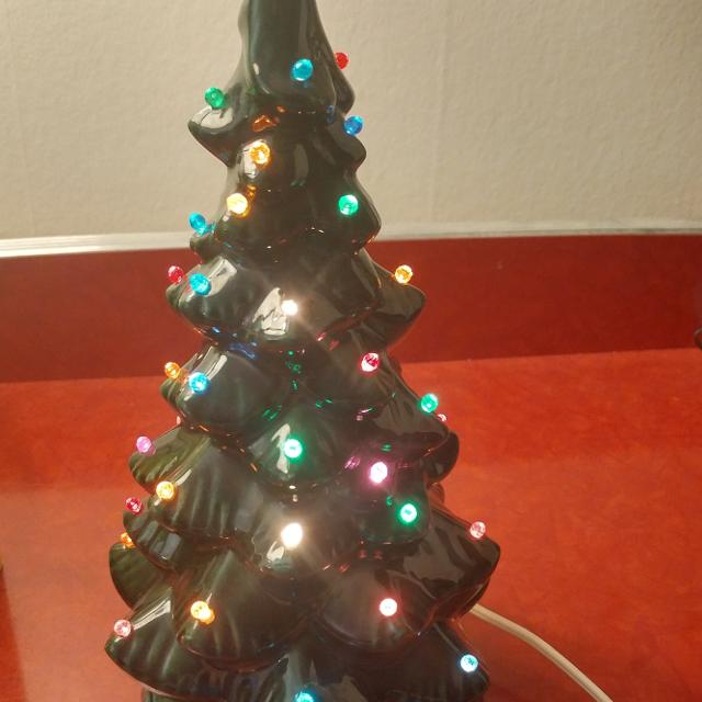 Find More Small Vintage 11 Tall Ceramic Christmas Tree Light Up
