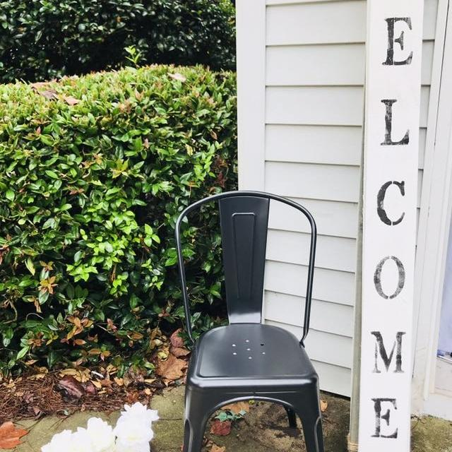 Best Walker Edison Osp Metal Farmhouse Chairs Stools Matte Black For Sale In Griffin Georgia For 2020
