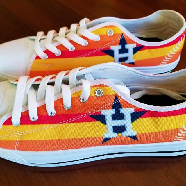 c65c30aa27b Find more New Houston Astros Custom Shoes Men Or Women Size for sale ...