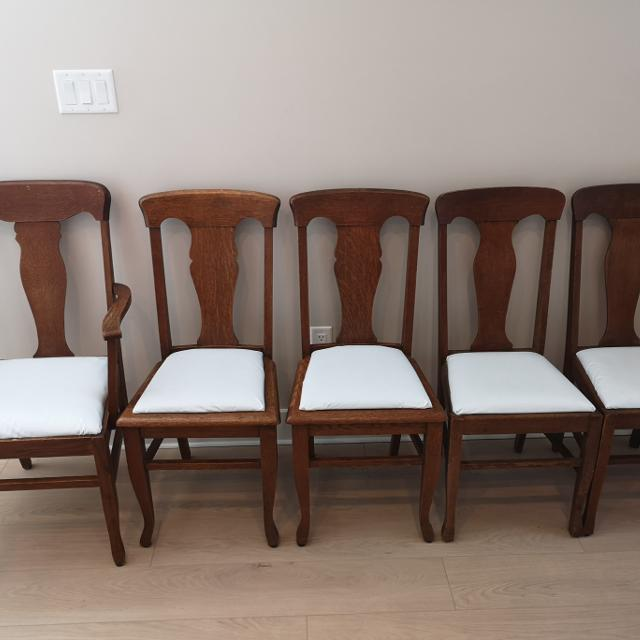 Antique oak dining chairs. - Best Antique Oak Dining Chairs. For Sale In Victoria, British