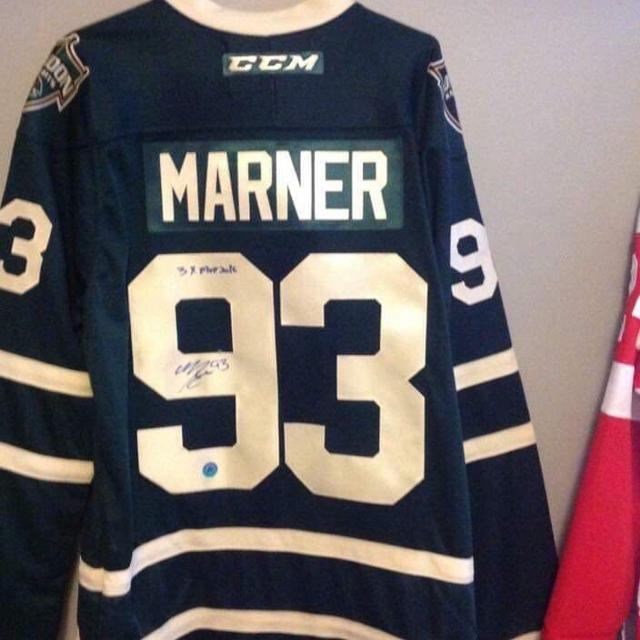 separation shoes 48fb6 63730 Signed London Knights Marner jersey