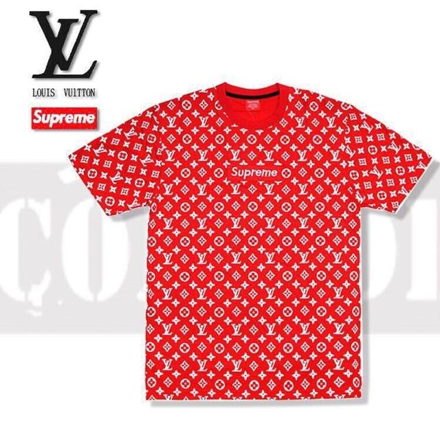 5ce65d489d6b Find more Mens Louis Vuitton   Supreme Red T-shirt Large Brand New ...