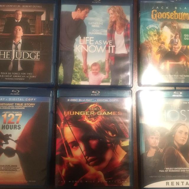 six Blu-Ray Movies