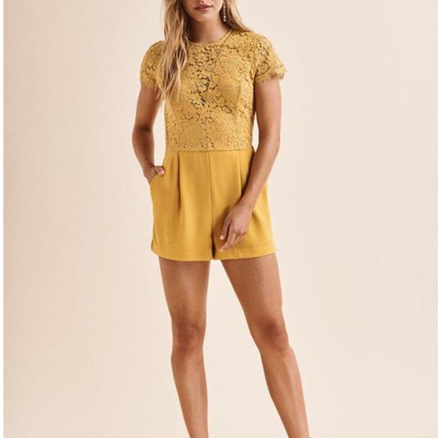 a39e580d6766 Find more (dynamite) Lace Top Short Romper - Size Xs (new!) for sale ...