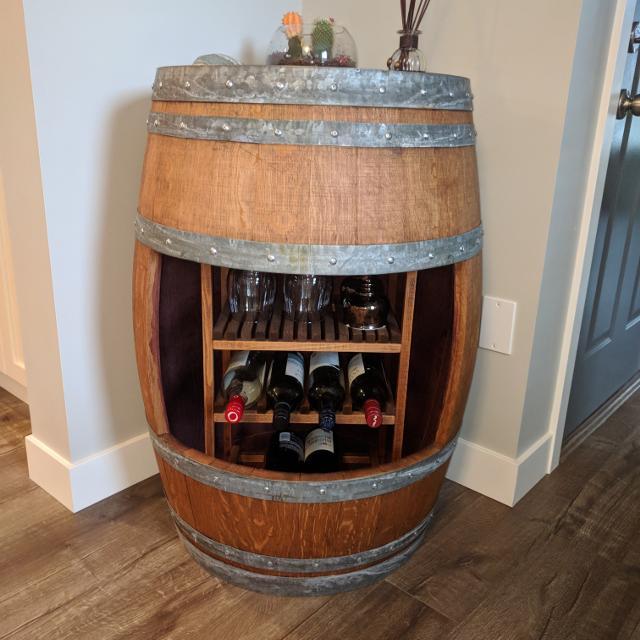 Best Custom Made Wine Barrel Wine Rack For Sale In Nanaimo British