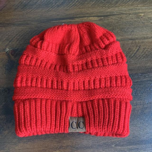 859cdb90297 Best Red Messy Bun Beanie Hat for sale in Calgary