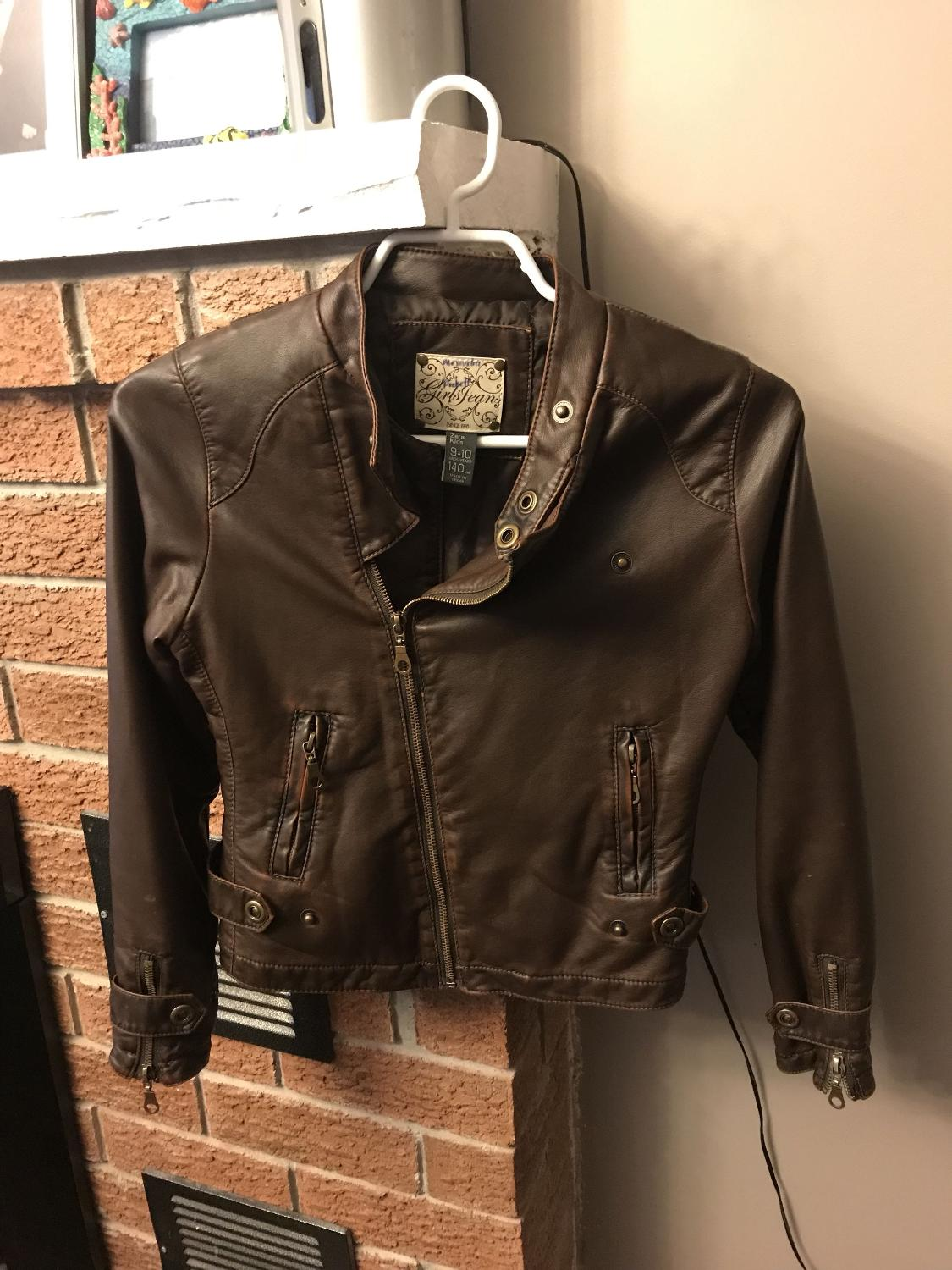 e0e81f6a Find more Zara Girls' Faux Leather Jacket - Size 9/10 for sale at up ...