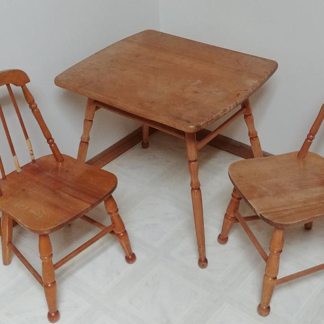 Find More Vintage Kids Table With 2 Chairs For Sale At Up To 90 Off