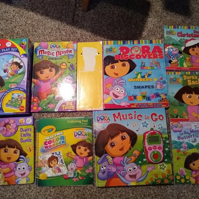 Dora the Explorer Coloring Book Page Christmas Holiday with Boots ... | 640x640