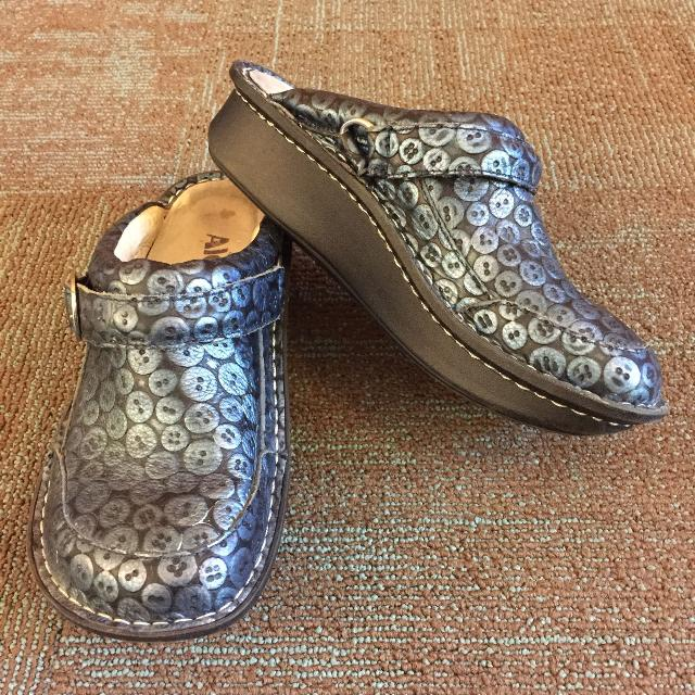 f7a3d13c1d2e Best Women s Blue Alegria Seville Button Up Clogs