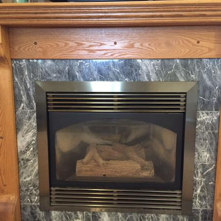 Used, Natural Gas Fireplace and Mantel for sale  Canada
