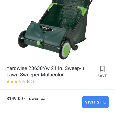 Walk behind lawn sweeper for sale  Canada