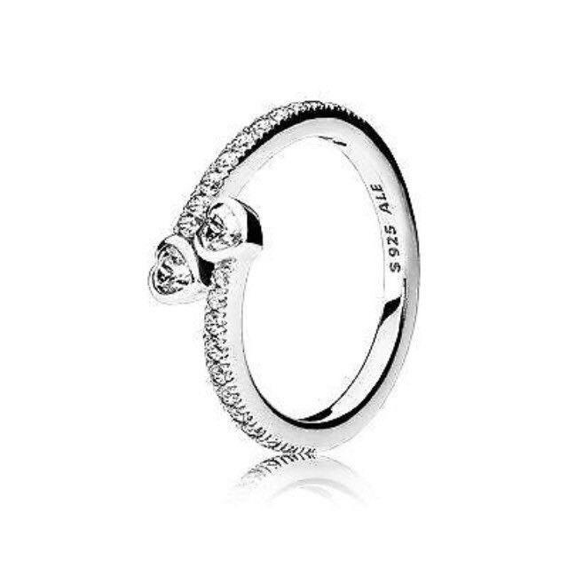 ab774a2e3 Find more Pandora Double Heart Ring for sale at up to 90% off