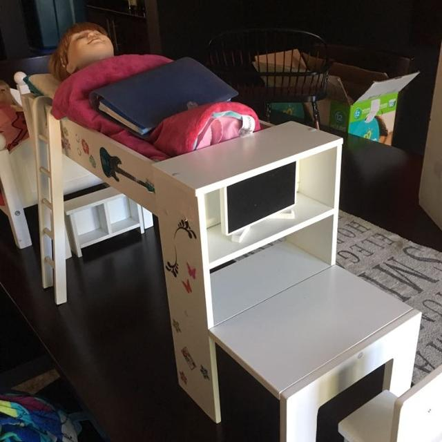 Find More American Girl Loft Bed And Desk Set For Sale At Up To 90 Off