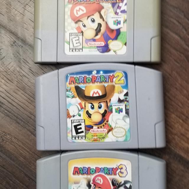 Mario party 1,2,3 for n64