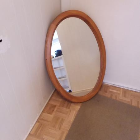 Oval mirror solid oak frame for sale  Canada