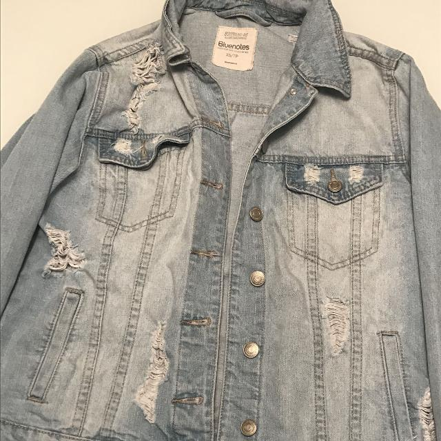 337a4fc0d2196 Find more Bluenotes Distressed Jean Jacket for sale at up to 90% off ...