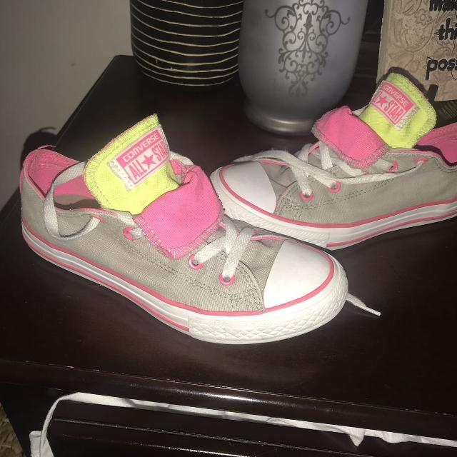 c06dda6681303d Find more Girls Size 3 Converse! Hardly Used At All L for sale at up ...
