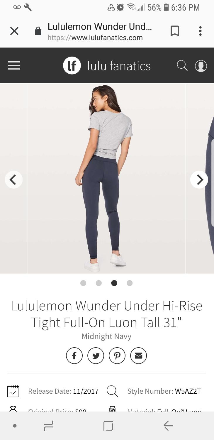80cfb2793 Find more Bnwt Lululemon Wunder Under Hi-rise Tight Full-on Luon for sale at  up to 90% off - Richmond