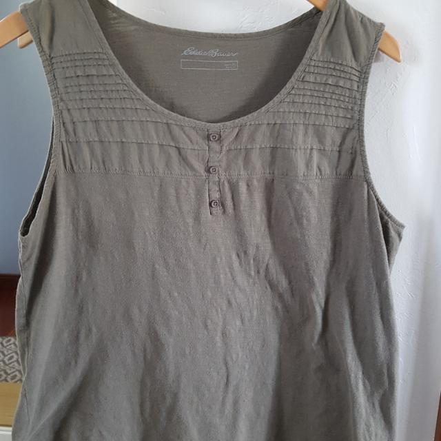 5e9e601641857 Best Xl Eddie Bauer Olive Army Green Cotton Tank Top Womens for sale in  Appleton
