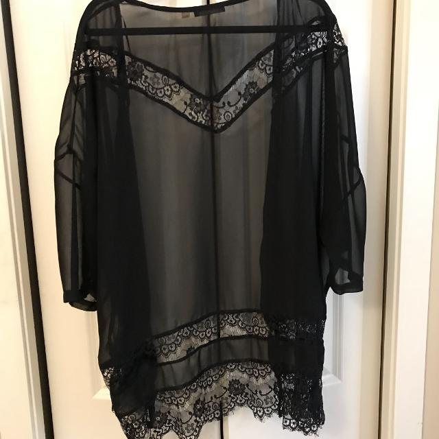 148981cfdc3aa Best Dex Black Sheer Shall/cover Up With Delicate Lace Detail for sale in  Victoria, British Columbia for 2019