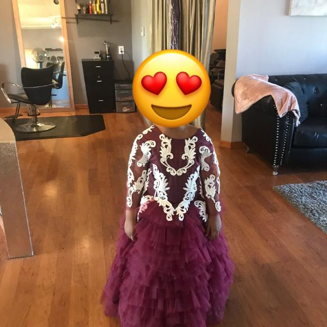 be6118a644a Best Burgundy Lace Flower Girl Dress for sale in Peoria