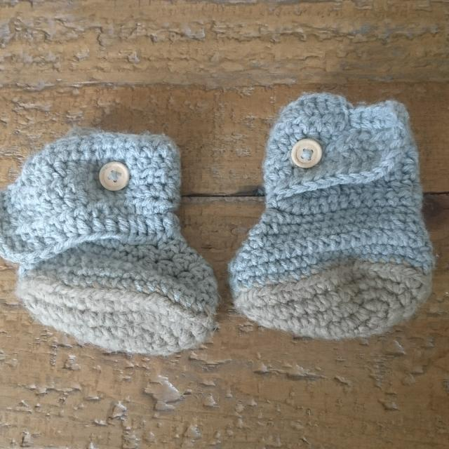 6891a968a Best Hand Knit Baby Booties for sale in Clarington