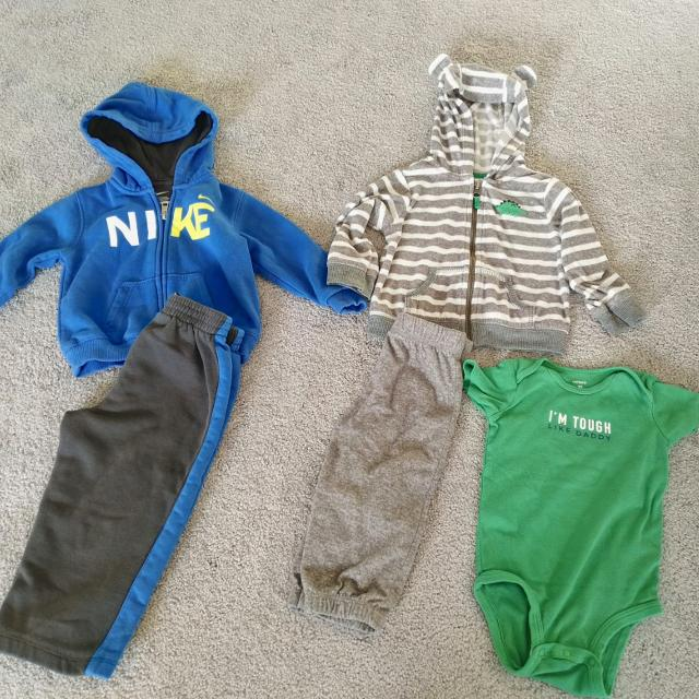 1cd3cb683ffa Nike Is Sweatsuit Material. Grey Outfit Has A Little Dinosuar - Soft Almost  Fleece Like Material. for sale in Airdrie