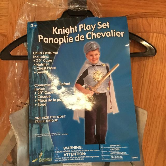 Knight Child Halloween Costume Or Play Set