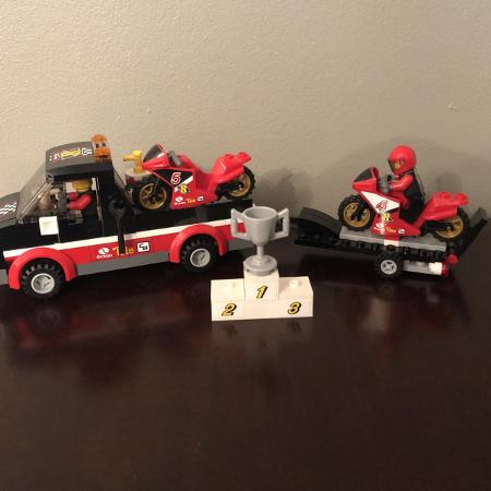 LEGO City: Racing Bike Transporter 60084, used for sale  Canada